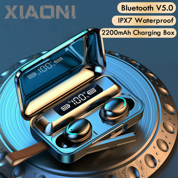 F9-9 V5.0 Bluetooth Earphone Headphone With Microphone Sports Waterproof Headsets 2200mAh Charging Box For Android Earpods 2