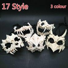 17 estilo dragão deus máscara cosplay prop tengu tigre máscara halloween resina tema animal máscaras