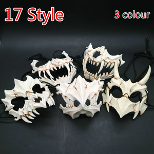 Image 1 - 17 stil Drachen Gott Maske Cosplay Prop Tengu Tiger Maske Halloween Harz Tier Thema Masken