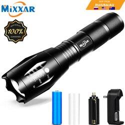 Zk60 q250 tl360 led lanterna tática tocha zoomable 8000lm 5 modo resistente à água luz handheld 18650 aaa melhor para acampar