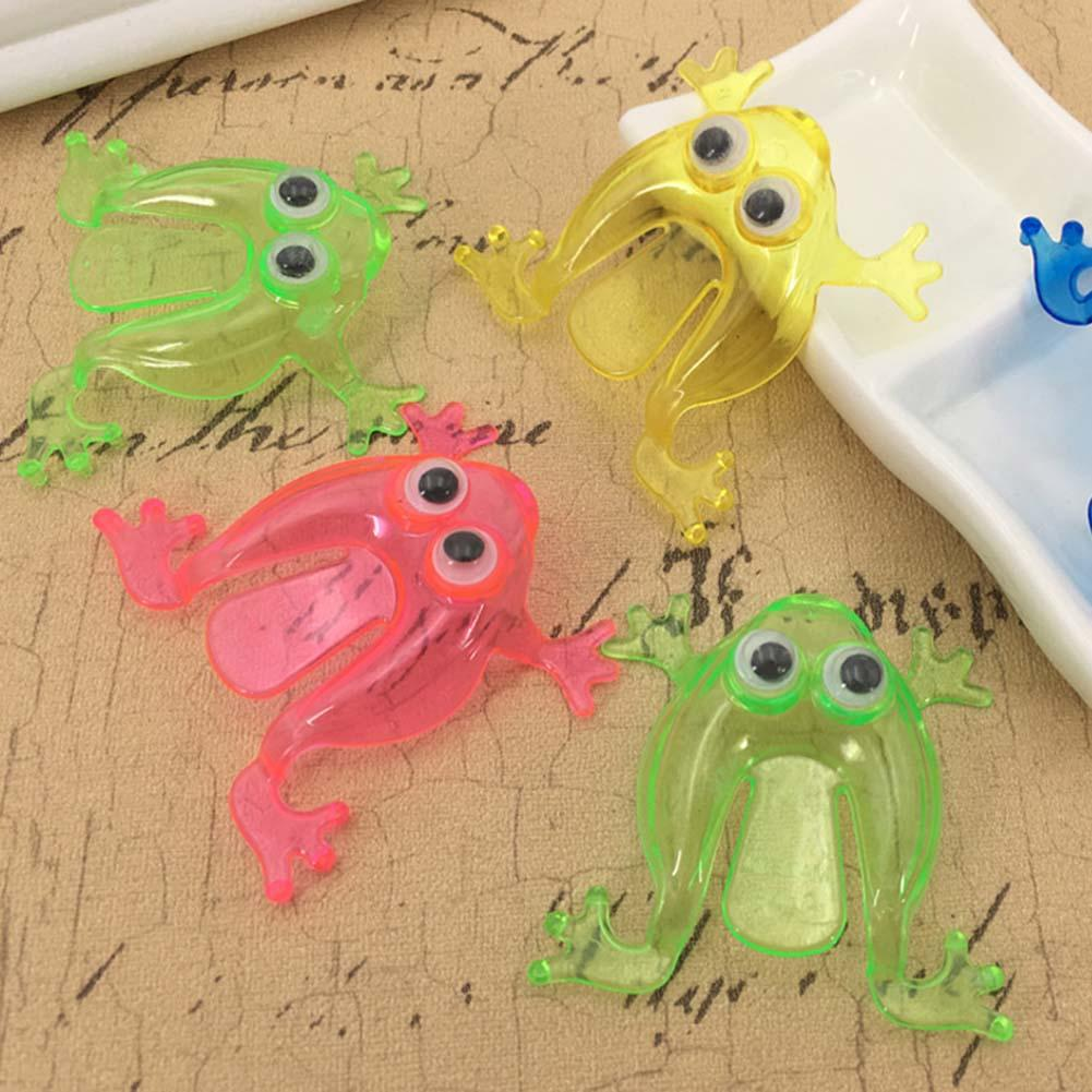 10Pcs Kids Mini Jumping Frog Toy Finger Pressing Desktop Game Kids Toy Gift Party Favors Random Color