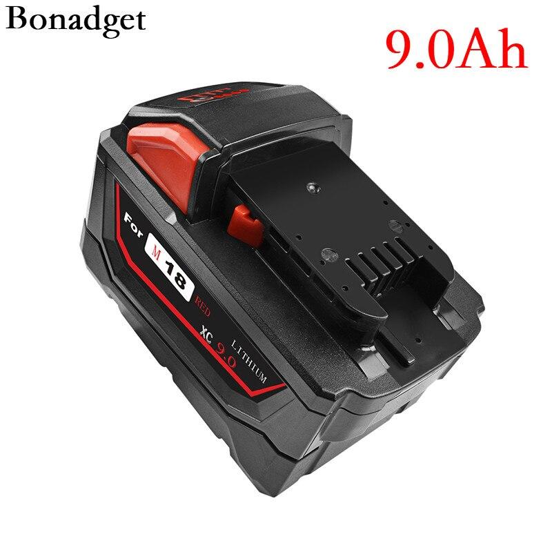 Bateria recarregável do li-íon para a substituição 48-11-6000 48-11-9000 48-11-1815 48-11-1850 das ferramentas elétricas de milwaukee m18 1840 mah mah
