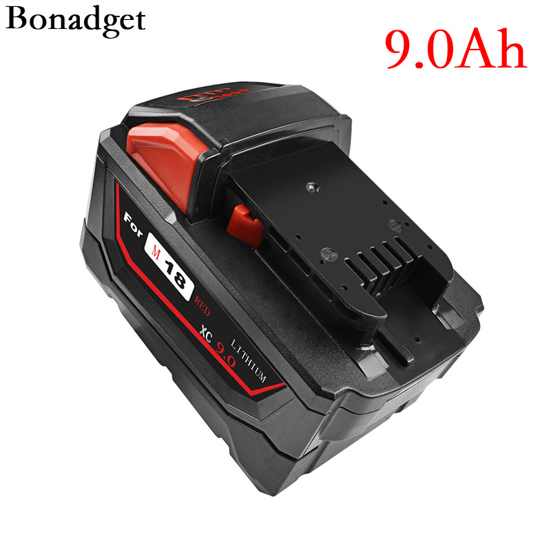 Rechargeable Li-ion <font><b>Battery</b></font> for <font><b>Milwaukee</b></font> <font><b>M18</b></font> 6000mAh 9000mAh Power Tools Replacement 48-11-1815 48-11-1850 48-11-1840 <font><b>Battery</b></font> image