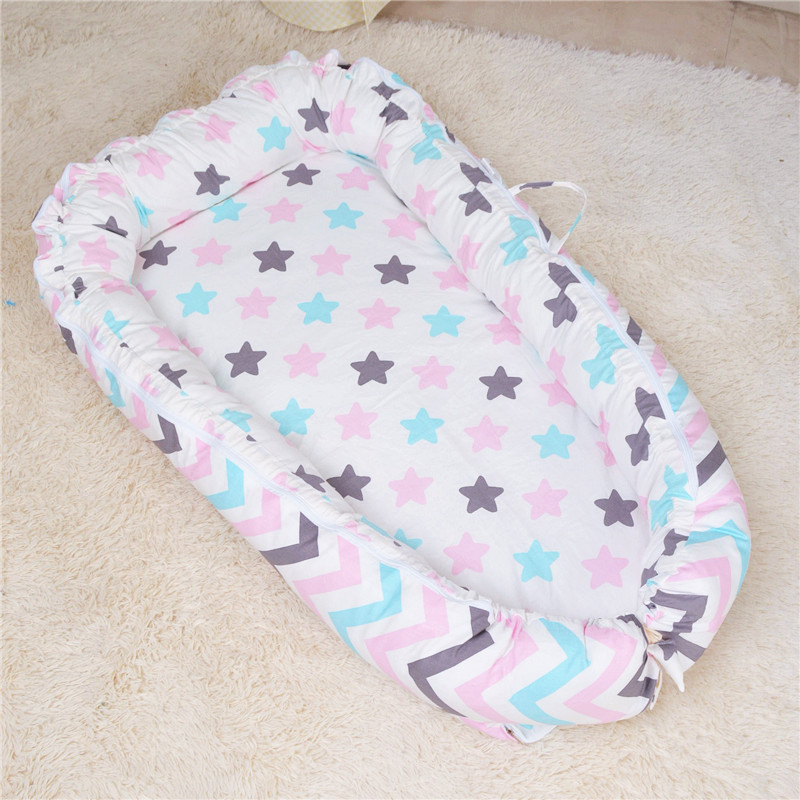 Baby Portable Bed Crib Sleeping Isolation Mattress Newborn Baby Printing Removable  Washable Met YCZ038