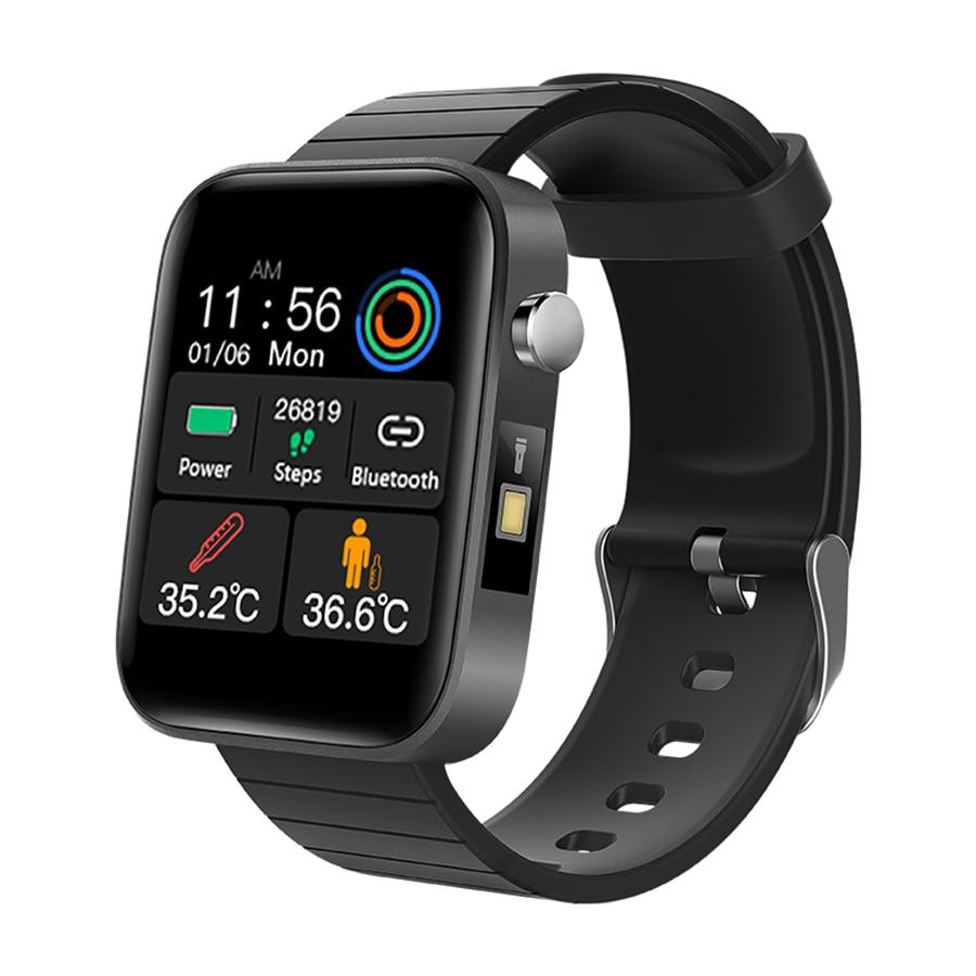 T68 Men Women Smart Watch with Body Temperature Measure Sports Fitness Watch Heart Rate Blood Pressure Oxygen Monitor Smartwatch 1
