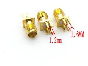 Image 1 - 100pcs RP SMA female plug center solder PCB clip edge mount RF connectors