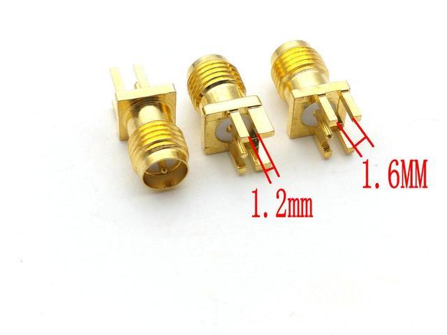 100pcs RP SMA female plug center solder PCB clip edge mount RF connectors
