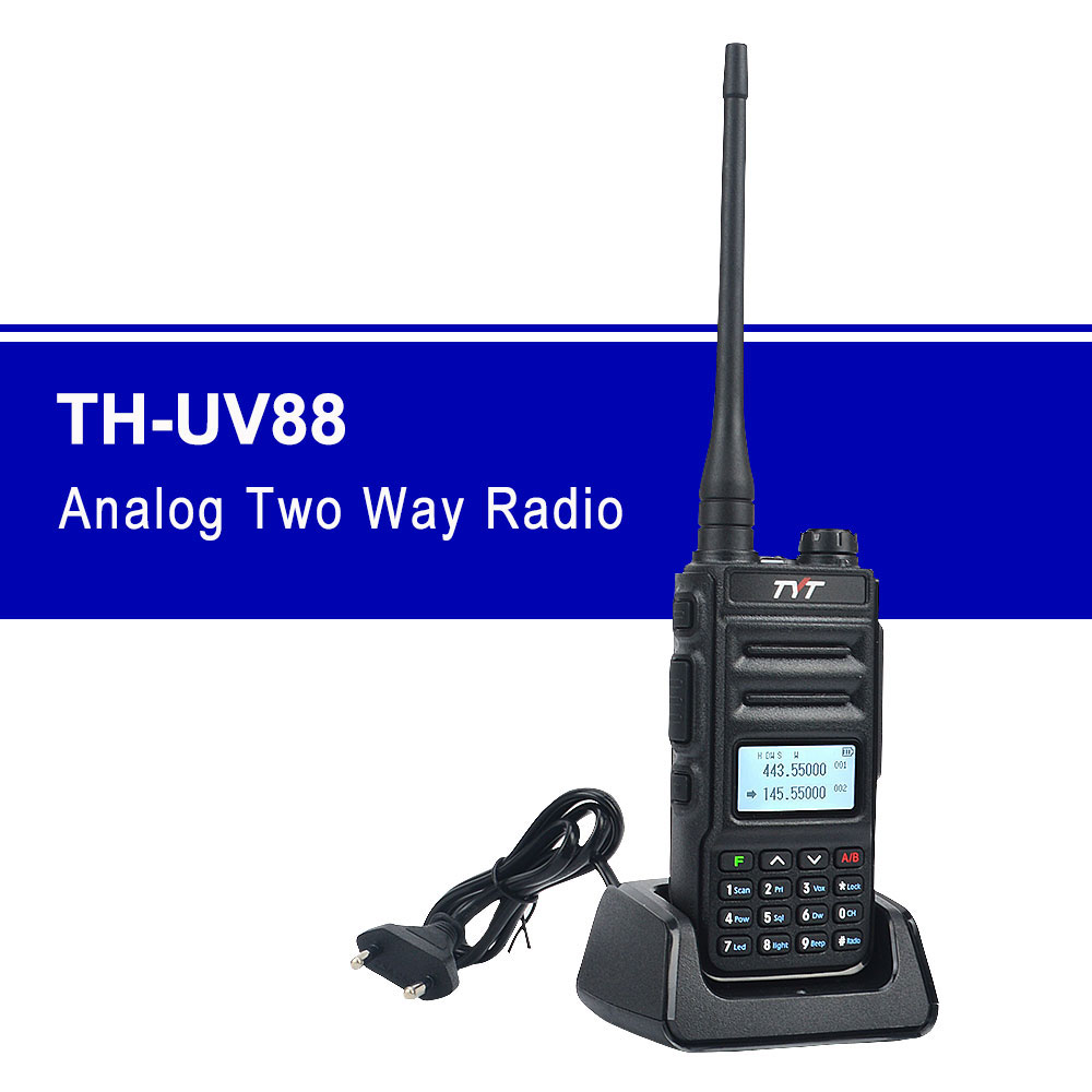 TH-UV88 Talkie Walkie Tyt Dual Band VOX Scrambler FM Radio 136-174MHz & 400-480MHz UHF/VHF Portable Two Way Radio