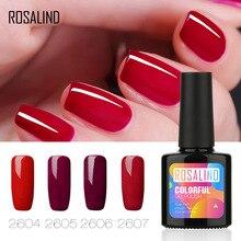 ROSALIND Solid Color Rose Color Nail Polish UV Phototherapy