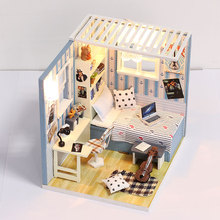 Doll house model toys role play elegant house  furnishing Bart's home room children toys kids educational toys doll house model toys role play elegant house furnishing warm time room children toys kids educational toys