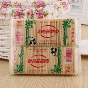 250PCS/Box Worthy Bamboo Toothpick Disposable Natural Toothpicks Fruit Single Sharp Tooth Sticks Family Restaurant Accessories