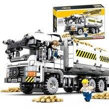 Yeshin 701704 Technic игрушечные машинки, набор грузовиков, строительные блоки, кирпичи, строительные игрушки для грузовиков, детские рождественские подарки
