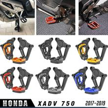 лучшая цена Motorcycle Accessories Aluminum XADV750 Folding Rear FootPegs Foot Pegs Footrests Pedals Passenger for 2017-2019 X ADV XADV 750