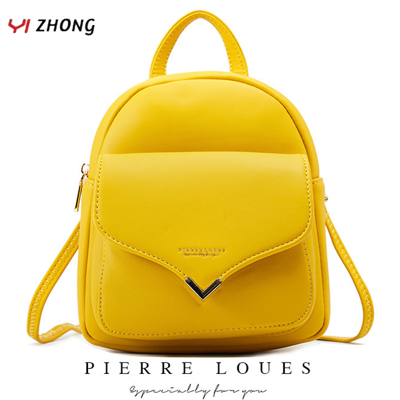 YIZHONG Fashion Luxury Women Backpack Leather MultiFunction Small Backpack Mini Backpack Purse Ladies Shoulder Bag Mochila