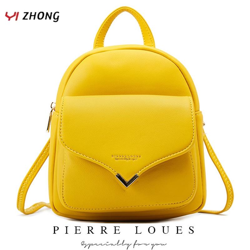 YIZHONG Fashion Luxury Women Backpack Leather MultiFunction Small Backpack Mini Backpack Purse Ladies Shoulder Bag Mochila
