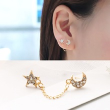 Korean Earrings Single Ear Double Hole Earrings Ear Rings Channel Earring Aretes De Mujer Clip on Earrings Cuffs for Women