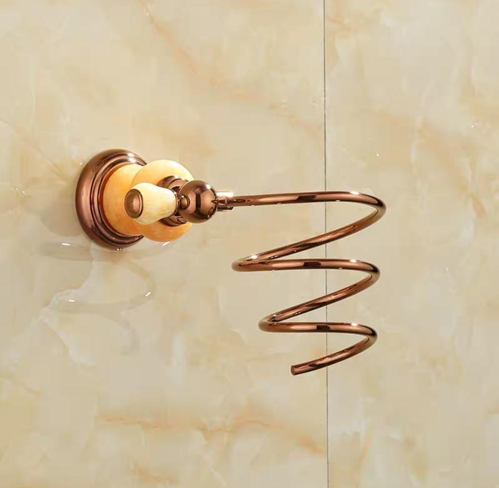 Натуральный +нефрит основа ванная органайзер полка полировка золото ванная фен фен держатель настенный навесной