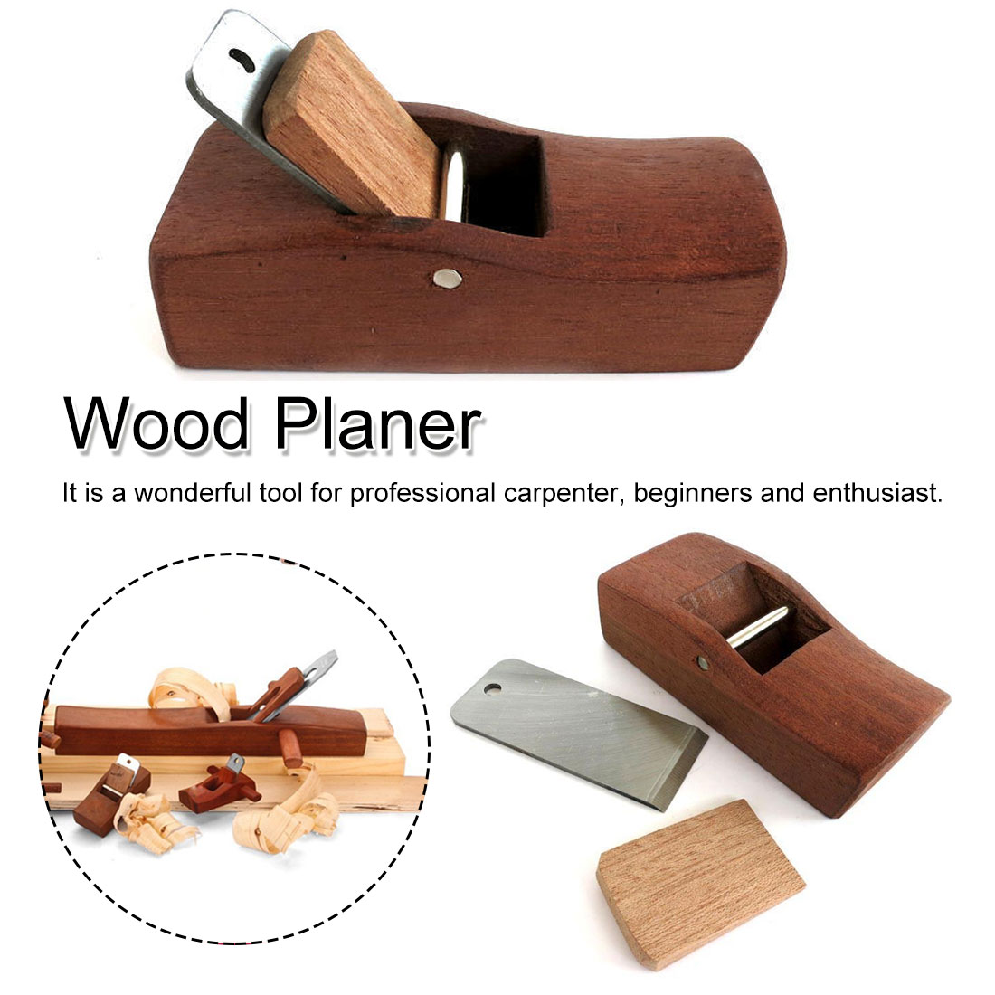 Hand Plane Wood Planer Flat Plane Bottom Edge Planer Blades Woodworking Plane For Carpenter Woodcraft Tool