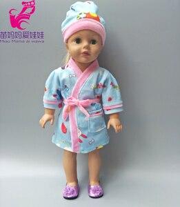 Верхняя одежда, пальто для девочек 18 дюймов, зимняя меховая шапочка 43 см, Детская кукла, одежда, ночное платье