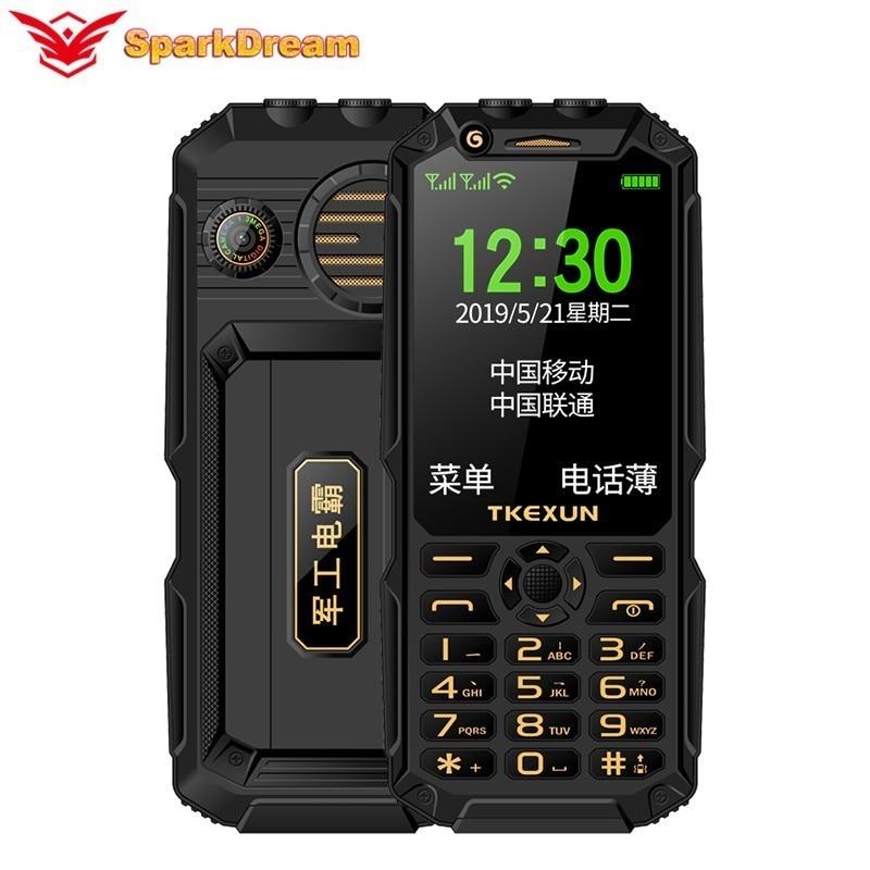 Фото. TKEXUN Q8A кнопочный мобильный телефон 3,0 дюйм внешний аккумулятор, Wi-Fi, две sim-карты, MP3