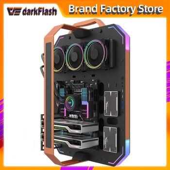 Darkflash bladex open frame luxury gaming desktop computer case gabinete pc gamer completo atx chasis ARGB lighting pc case 2