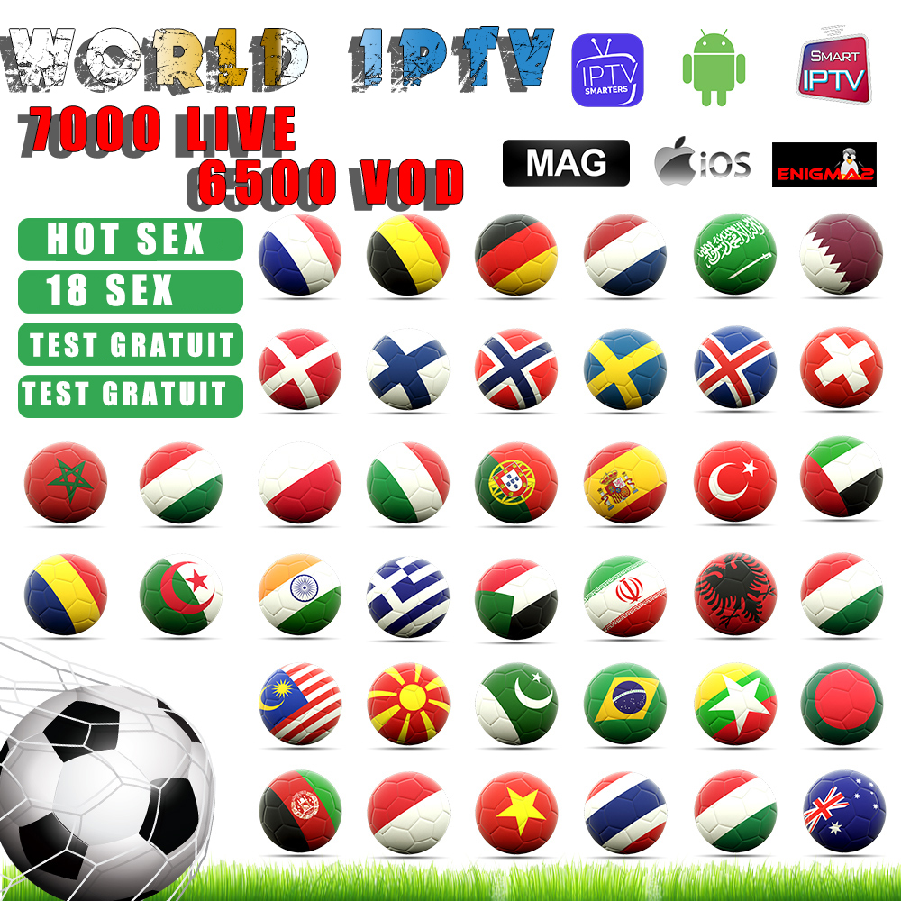 Global Iptv 7000+Live Europefrench Dutch Spain Italy Uk Iptv Subscription Arabic Iptv Free Sports Android Tv Box Ssmart Tv Pc