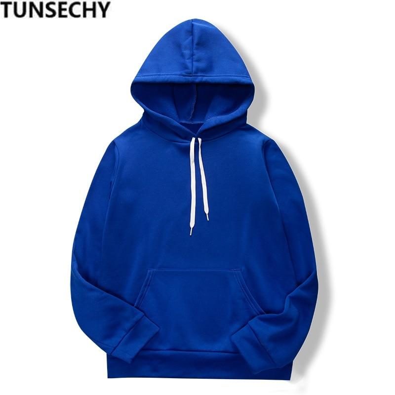 19 women's long-sleeved plain hooded sweatshirt plain multi-color men's and women's casual pullover hoodie 4