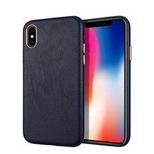 YXAYN יוקרה עור עבור iPhone 7 8 בתוספת X XR XS 12 מיני 11Pro מקס טלפון מקרה דק במיוחד ונוח
