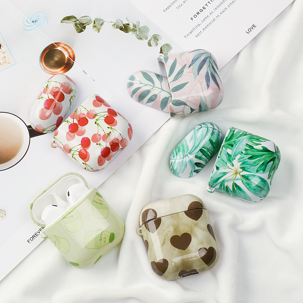 Lovely Cases For Original Apple Airpods Case Cute Pattern Cover For Apple Airpods 2 1 air pods Box Accessories Headphone Coque