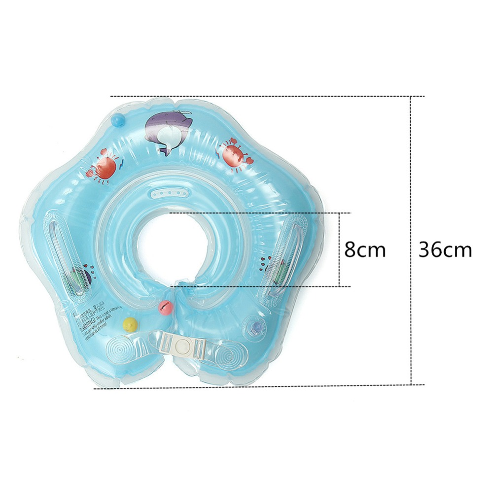 Baby Swimming Pool & Accessories Baby Tube Ring Swim Neck Ring Safety Infant Neck Float Circle For Bathing Inflatable 0-3years