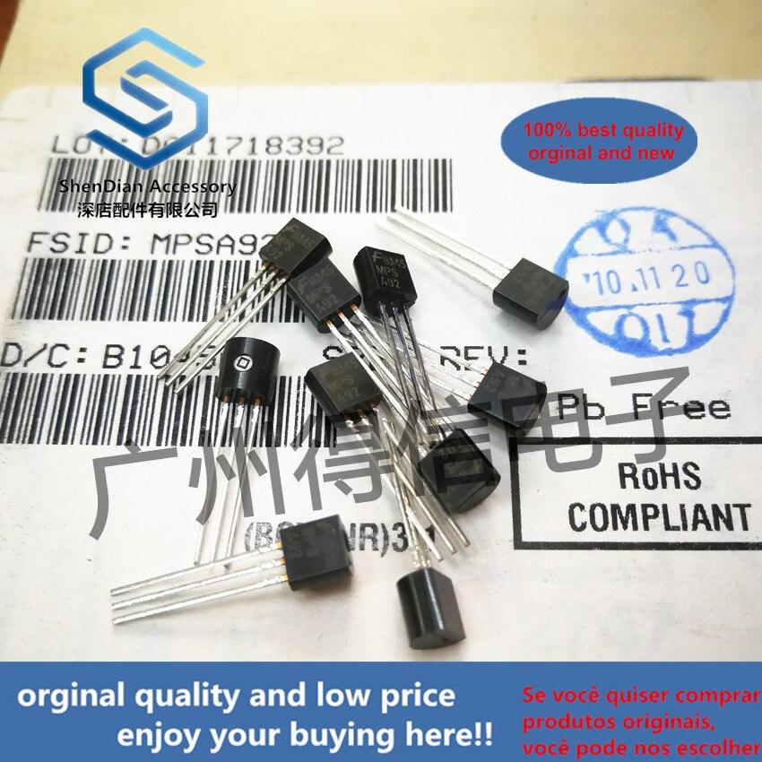 30pcs 100% Orginal New MPSA92 A92 TO-92  PNP Silicon High Voltage Transistor Real Photo