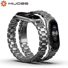 Для Mi Band 5 браслет на запястье для Xiaomi Mi Band 4 металлические Безвинтовые нержавеющие браслеты для Miband 3 4 5 NFC глобальная версия
