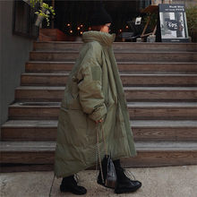 Oversized Parka Coat Women Winter 2020 Army Green Stand Collar Bread Loose Large Size Korean Style Cotton-padded Jacket Female(China)