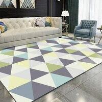 Alfombra geométrica Simple moderna alfombra decoración de habitación de niños alfombra de área de juego alfombra de sala de estar de gateo para bebés alfombra decorativa para el hogar