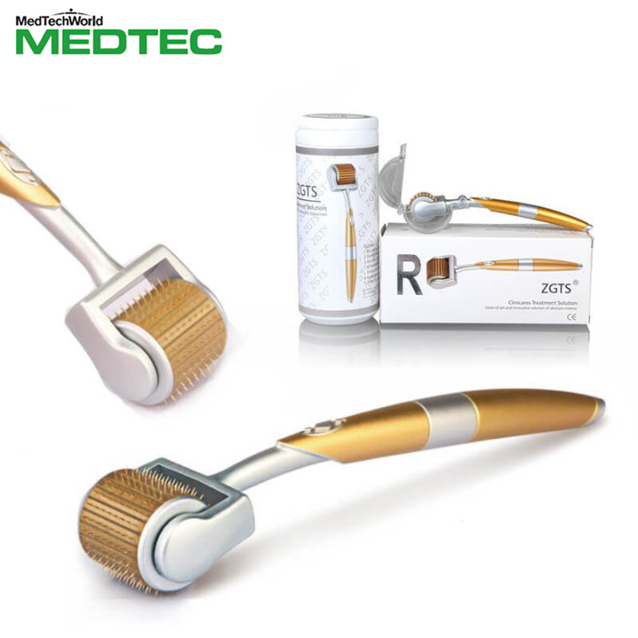 Microneedle Facial Roller Titanium Mezoroller Derma Roller 192 Needles Microniddle Roller Professional Hair-loss Treatment Tool