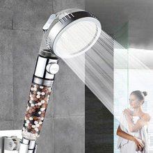 Banheiro cabeça de chuveiro ionic poupança água filtrada cabeça de chuveiro para a banheira de água dura ajustável stonestream pulverizador bico