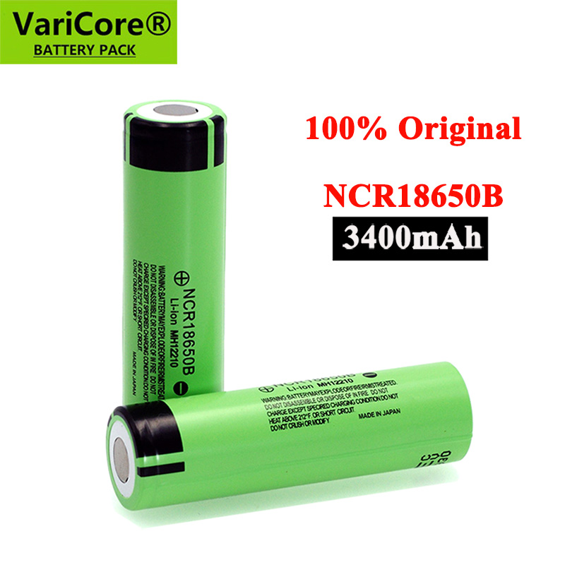 Литий-ионный аккумулятор NCR18650B (18650, 3,7 В, 3400 мАч)