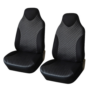 Image 1 - AUTOYOUTH 2PCS Front Seat Covers Black Sports Seat Covers PVC Fabric Car Seat Cover Universal Interior Accessories For TOYOTA
