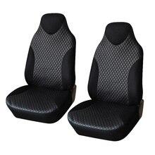 Autoyouth 2 pçs tampas de assento da frente preto esportes tampas de assento pvc tecido assento do carro universal interior acessórios para toyota