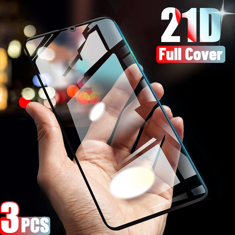 3pcs 21d Full Cover Tempered Glass For Xiaomi Mi 9 Lite Se Screen Protector For Xiaomi Mi 9t Pro Mix 3 8 Cc9 9x A3 A2 Lite Glass