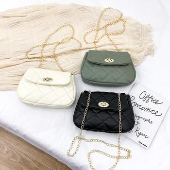 Womens Bag Mini 2020 New Style Hipster Fashion Rhombus Chain Single-Shoulder for Women Messenger Cloud