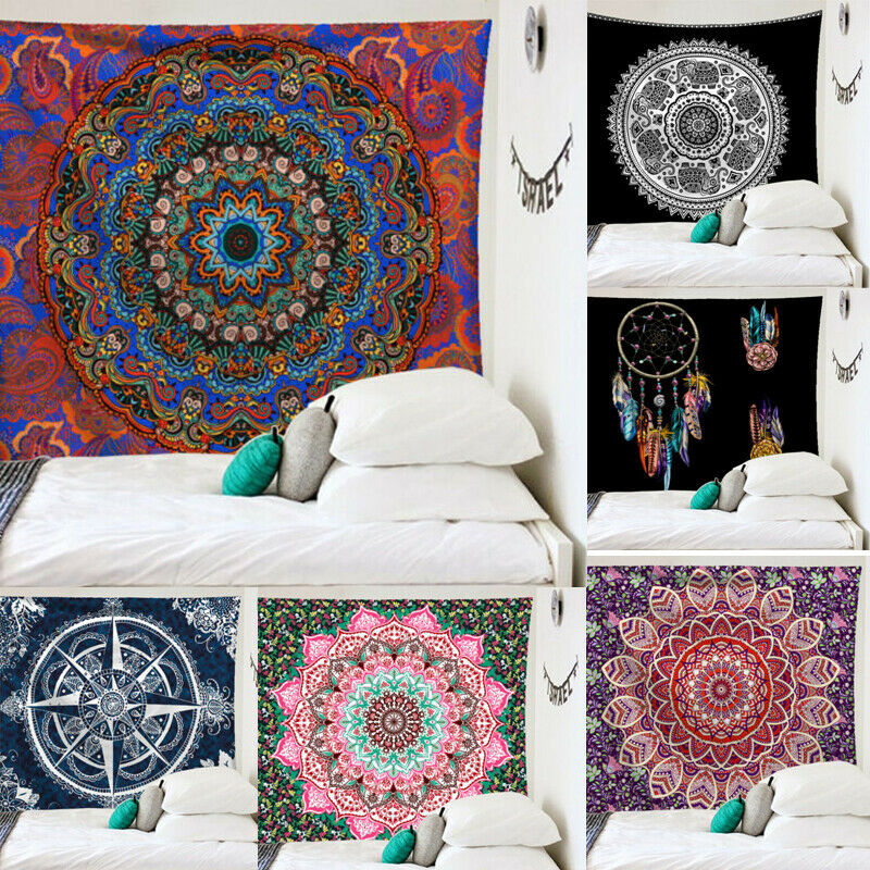 Indian Mandala Wall Hanging TableCloths Hand Dorm Decor Art Tapestry Hippie Bedspread Wall Hanging Beach Towel Blanket