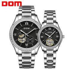 DOM автоматические механические часы светящиеся водонепроницаемые мужские часы спортивные деловые часы для пары модные женские часы из нер...