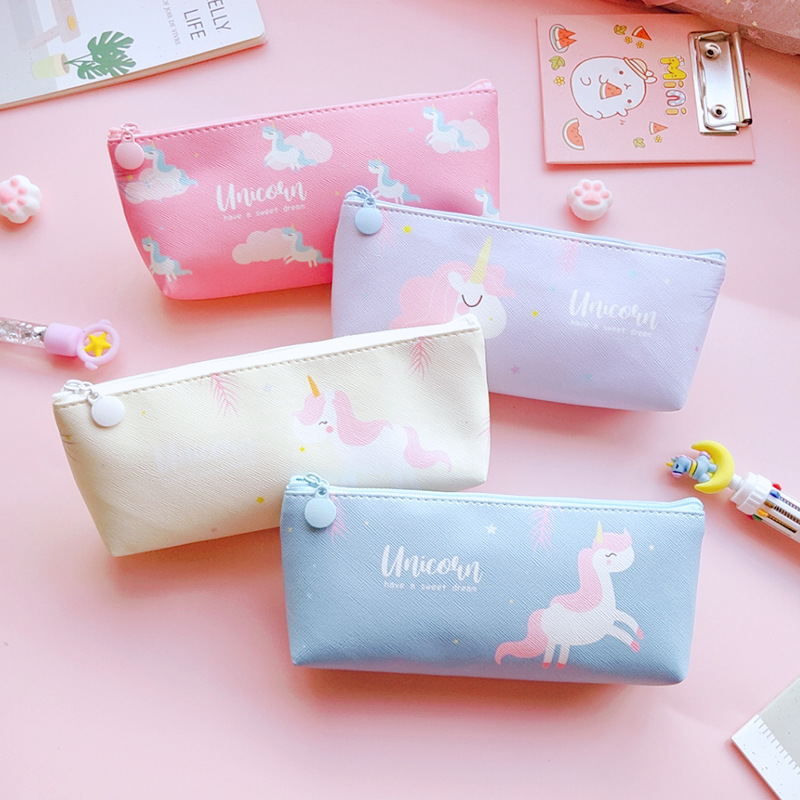 1pcs Kawaii Pencil Case Unicorn School Pencil Box Pencilcase Pencil Bag School Supplies Stationery
