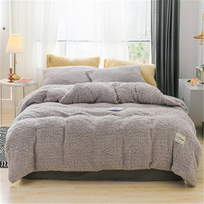 Pillowcase Bedding-Set Bed-Cover Linen Flat-Sheet Cashmere Queen Flannel Winter Full title=