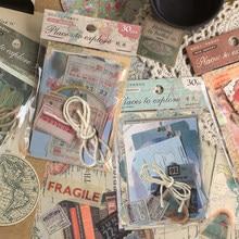 Journamm – papier kraft carte Vintage paysage océan, matériaux actuels, papier de décoration Original et créatif, papeterie de décoration, 30 pièces