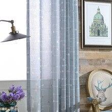 Занавеска современный минималистичный Европейский стиль занавеска из лавсана с принтом занавеска из пряжи