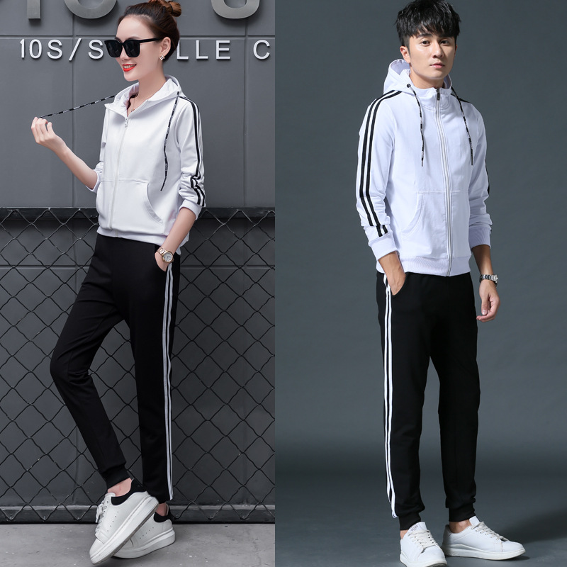 Sports Set Men's Spring And Autumn Cotton Hoodie Suit Casual Sports Clothing Men's Korean-style Couples Two-Piece Set