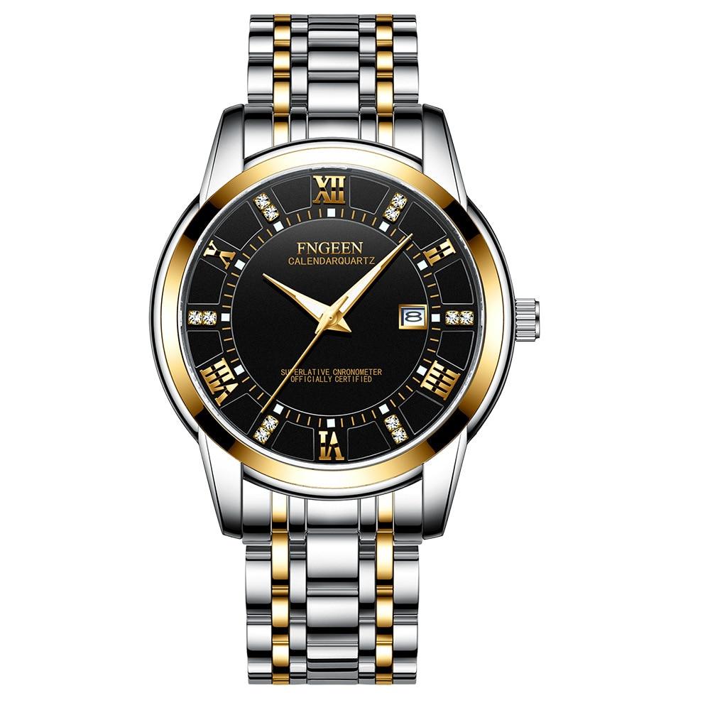 5Bar Waterproof Diving Sports Men's Mechanical Watch Luminous Male Clock With Calendar Men Business Steel Belt Watches For Boy