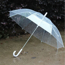 New Portable Fashion Transparent Clear Rain Umbrella Parasol PVC Dome for Wedding Party Favor